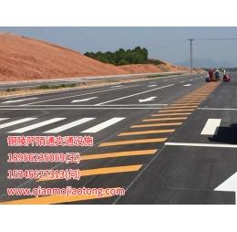 池州市江南集中区迎宾大道标线施工案例